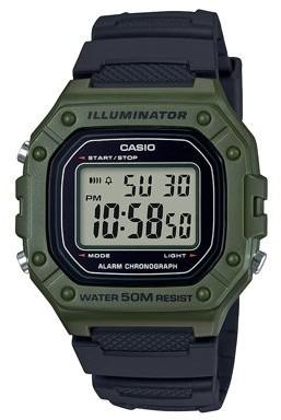 Casio Men's Large Case Digital Watch - W218H-3A