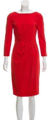 Versace Wool Button-Accent Midi Dress w/ Tags