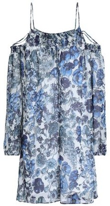 Bailey 44 Cold-Shoulder Floral-Print Georgette Mini Dress