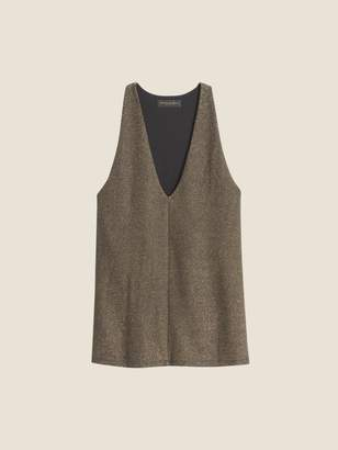 DKNY Jersey Shine Sleeveless V-Neck Top