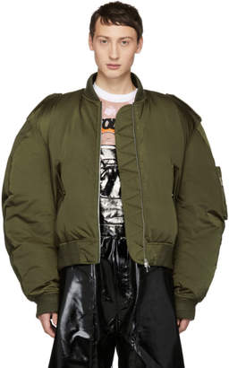 Chen Peng Green Down Pilot Puffer Jacket