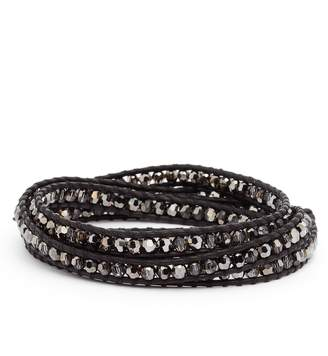 Chan Luu Beaded Leather Wrap Bracelet