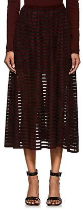Ronny Kobo WOMEN'S ROBYN VELVET-STRIPED TULLE SKIRT