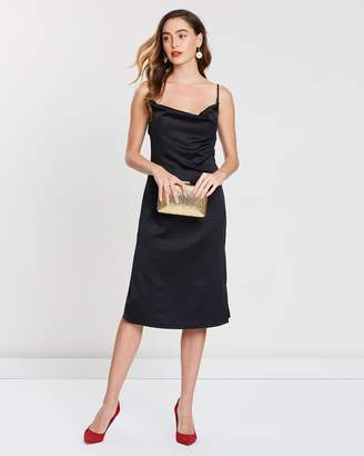 Missguided Strappy Cowl Midi Dress