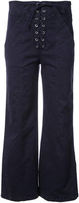 A.L.C. flared cropped trousers