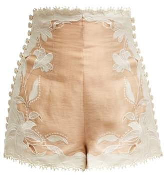 Zimmermann Corsage Lily Lace Shorts - Womens - Nude