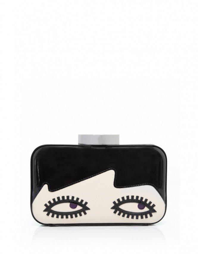 Women's Lulu Guinness Fifi Doll Face Clutch Bag