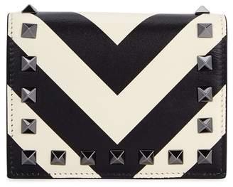 Valentino Rockstud Monochrome Leather Wallet