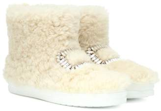 Roger Vivier Sneaky Viv' high-top fur sneakers