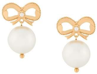 Simone Rocha bow pearl drop earrings