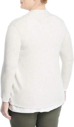 Three Dots Plus Reversible Draped Cardigan, Plus Size