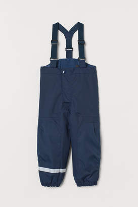 H&M Snow Pants with Suspenders - Blue