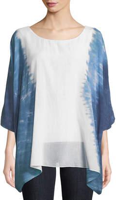 Joan Vass Tie-Dye Sharkbite Top
