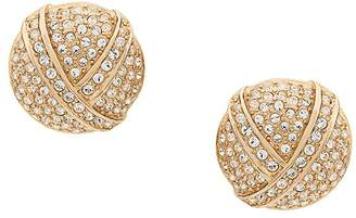 Christian Dior Pre-Owned 1980s rhinestone round earrings