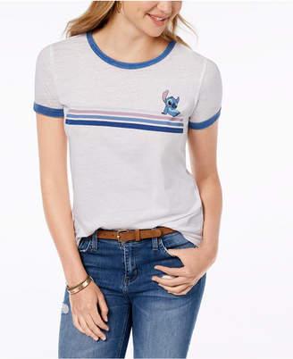 Freeze 24-7 Juniors' Stitch Stripe Graphic T-Shirt