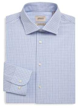 Giorgio Armani Gingham Cotton Button-Down Shirt