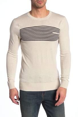 Scotch & Soda Stripe Crew Neck Long Sleeve Pullover