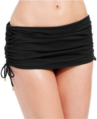 Calvin Klein Side-Tie Adjustable Ruched Swim Skirt Women Swimsuit