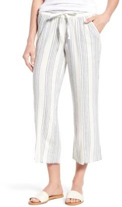 Women's Wit & Wisdom Drawstring Stripe Crop Sailor Pants $58 thestylecure.com