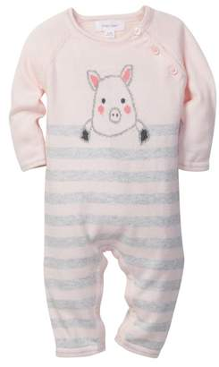 Angel Dear Pig Intarsia Coverall (Baby Girls)