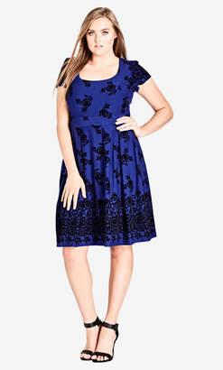 City Chic Lace Flock Dress