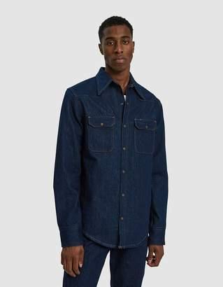 Calvin Klein Jeans Est. 1978 Western Shirt in Panel Rinse Indigo 9e3cb4bf6f9c