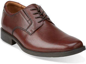 Clarks Tilden Mens Leather Plain-Toe Dress Shoes