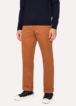 Paul Smith Men's Standard-Fit Burnt Orange Cotton-Twill Stretch Chinos