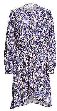 Etoile Isabel Marant Women's Yandra Ikat Printed Silk Shift Dress