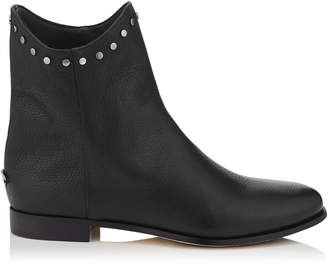 Jimmy Choo MARCO FLAT Black leather Ankle Boots
