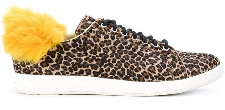 faux fur trim sneakers - Brown Paul Smith 7BkocV