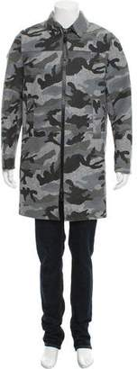 Valentino Camouflage Wool Coat