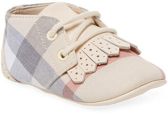 Burberry Plaid Leather Sneaker