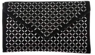Alaia Embellished Envelope Clutch