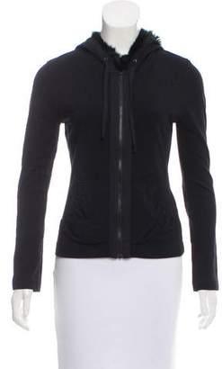 Charles Chang-Lima Fur-Trimmed Lightweight Jacket