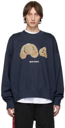 Palm Angels Blue Kill The Bear Sweatshirt