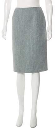Oscar de la Renta Knee-Length Pencil Skirt blue Knee-Length Pencil Skirt