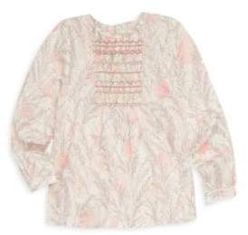 Bonpoint Little Girl's& Girl's Embroidery Blouse