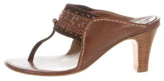 Henry Cuir Leather Thong Sandals