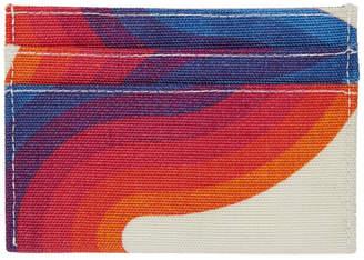 Dries Van Noten Multicolor Verner Panton Edition Canvas Card Holder