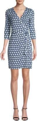 Diane von Furstenberg Floral Silk Wrap Dress