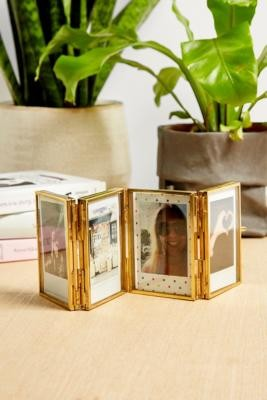 Urban Outfitters Folding Gold Instax Mini Photo Frame
