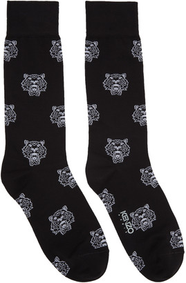 Kenzo Black Allover Tiger Socks $30 thestylecure.com