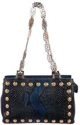 c14cc79b76 Pre-Owned at TheRealReal · Gianni Versace Python Medusa Shoulder Bag