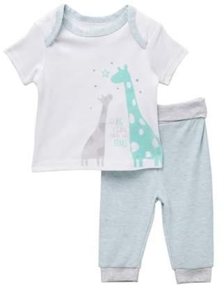 Rene Rofe Giraffe Tee & Pant Set (Baby Boys)