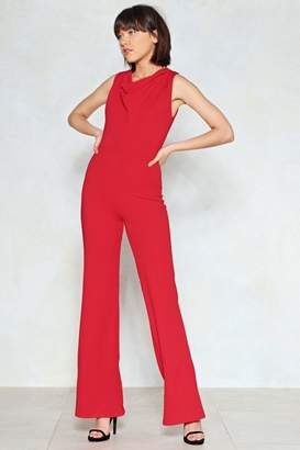 Nasty Gal Cowl May I Help You Wide-Leg Jumpsuit