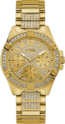 GUESS Women Lady Frontier Gold-Tone Stainless Steel Bracelet Watch 40mm
