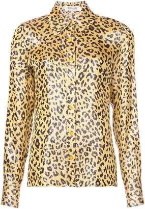Diane von Furstenberg leopard print shirt