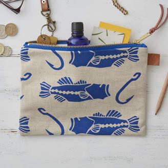 At Notonthehighstreet Jenny Sibthorp Bass And Hook Zipped Bag
