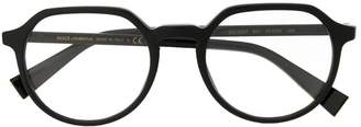 Dolce & Gabbana Eyewear round frame glasses